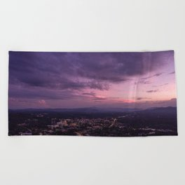 Asheville Stormy Nights Passing By Beach Towel