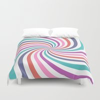 carnival Duvet Covers featuring Carnival by The Nostalgic Whim