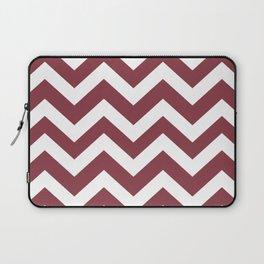Solid pink - violet color - Zigzag Chevron Pattern Laptop Sleeve