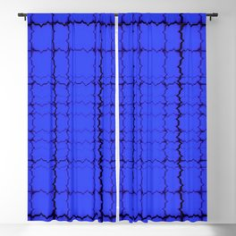 jagged, blue Blackout Curtain