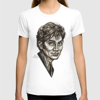 david tennant T-shirts featuring David Tennant - Doctor Who - Allons-y (Drawing) by ieIndigoEast