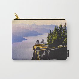 Retro travel BC poster Carry-All Pouch