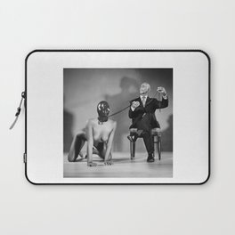 The Master - Nude woman in bdsm setting Laptop Sleeve