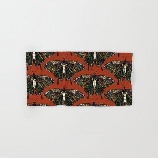 swallowtail butterfly terracotta Hand & Bath Towel