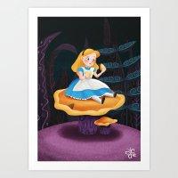 Alice in Wonderland Mushroom Art Print