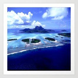 Bora Bora Island Tropical Paradise Art Print