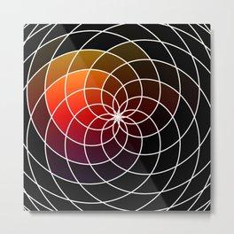 Dark Kaleidoscope Metal Print