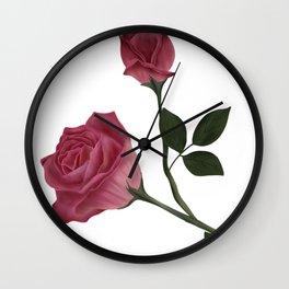 Mystical Maroon Rose Wall Clock