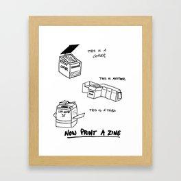 Now Print A Zine Framed Art Print