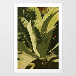 Agave Abstract Art Print