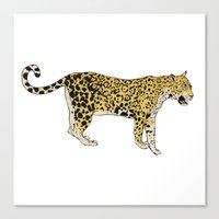 jaguar Canvas Prints featuring Jaguar by Keen of Beasts