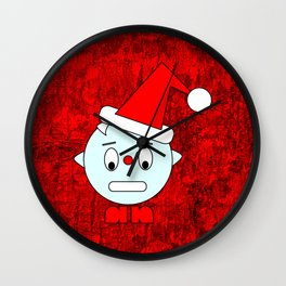 Funny Head clenching teeth Wall Clock