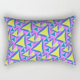 Neon Drawn Triangle Rectangular Pillow