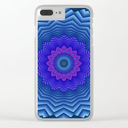mandalas blue and violet -3- Clear iPhone Case