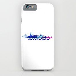 Melbourne Australia Skyline Scissor Cut Giant Text iPhone Case