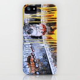 Mixed Media Art Yellow Rain iPhone Case