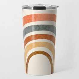 Abstract Rainbow 88 Travel Mug