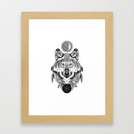 Bohemian Celestial Wolf Framed Art Print
