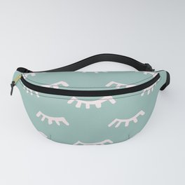 Mint Sleeping Eyes Of Wisdom - Pattern - Mix & Match With Simplicity Of Life Fanny Pack
