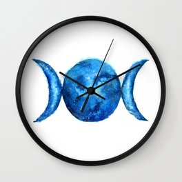 Triple Moon Goddess   Full Moon   Crescent Moon   Moon Phases Wall Clock