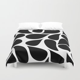 Abstract Black & White Foliage Pattern - Mix and Match with Simplicity of Life Duvet Cover