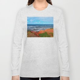Rolling Waves in East Point PEI Long Sleeve T-shirt