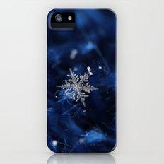 Blue snowflake iPhone (5, 5s) Slim Case