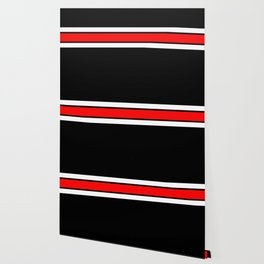 Team Colors 2...red,white and black...stripes Wallpaper