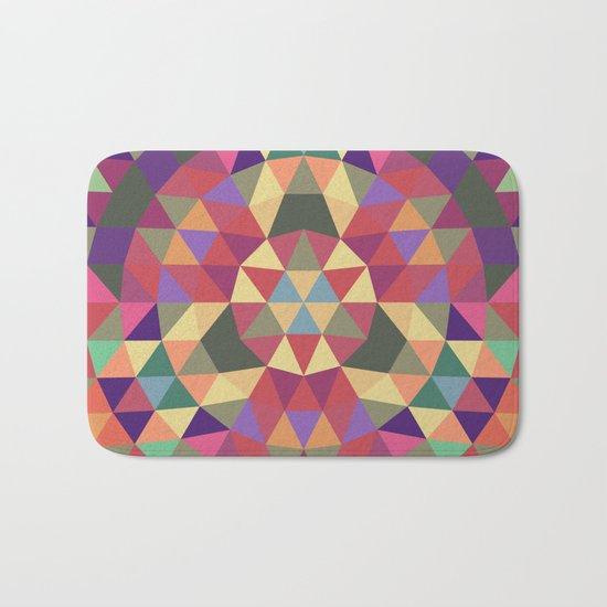 Tribal triangle mandala Bath Mat