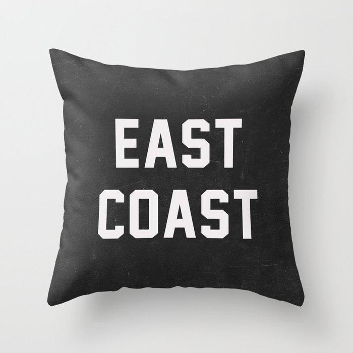 East Coast - black Throw Pillow
