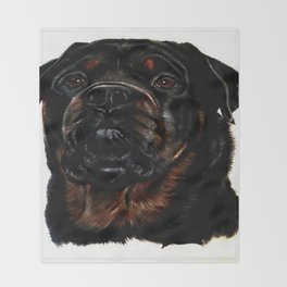 Male Rottweiler Throw Blanket
