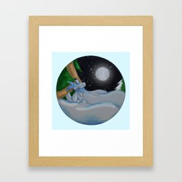 The Festive Moon Framed Art Print