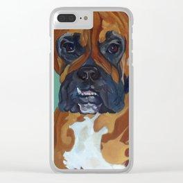 Boxer Dog Pet Portrait Clear iPhone Case