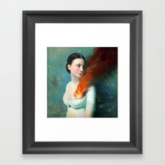 Portrait of a Heart Framed Art Print