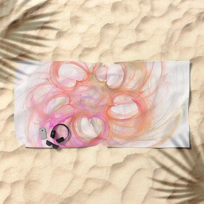 Hearts made by Eleonora Beach Towel