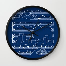 The Moonlight Sonata Blue Wall Clock