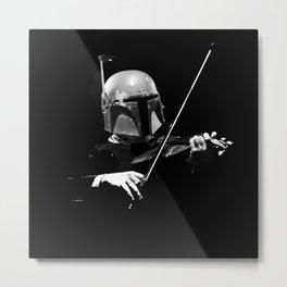 Dark Violinist Fett Metal Print