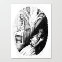 les mis Canvas Prints featuring Les Mis From A Beginning To An End - Cosette by Flávia Marques