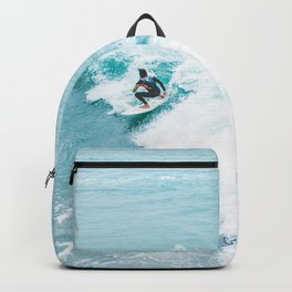 Wave Surfer Turquoise Backpack