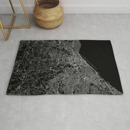 Cleveland Black Map Rug