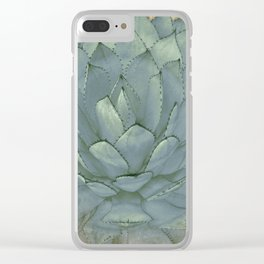 Agave Succulent Cactus Clear iPhone Case