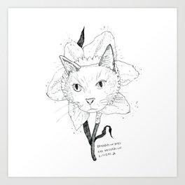 Catffodil Art Print