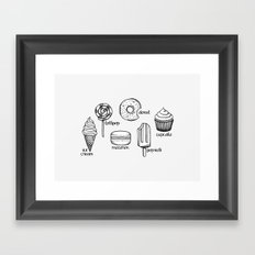 Sweets || Framed Art Print