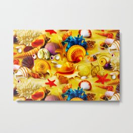 Seashells - Amazing Oil painting Metal Print