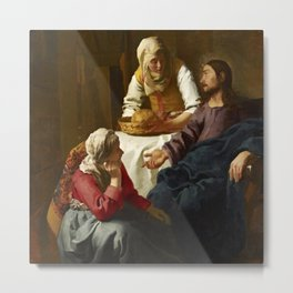 Johannes Vermeer - Christ in the House of Martha and Mary Metal Print