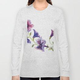 Watercolor branch of petunia. Long Sleeve T-shirt
