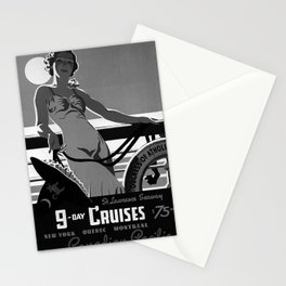 9 Day Cruises Placard Stationery Cards