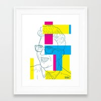 tyler oakley Framed Art Prints featuring Tyler Oakley by Antonio Páramo