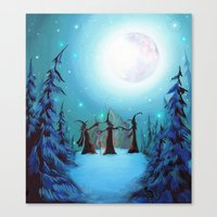 coven Canvas Prints featuring Witch Coven by Annya Kai