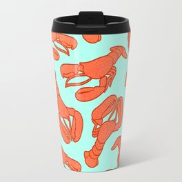 Lobster addiction pattern Travel Mug